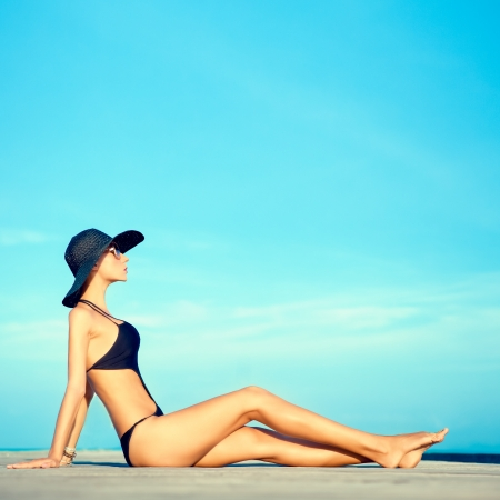 lovely: summer beach girl  Stock Photo