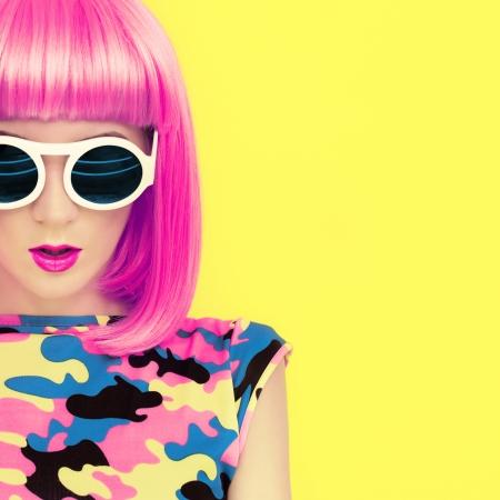 crimson colour: bright fashion girl glamor style
