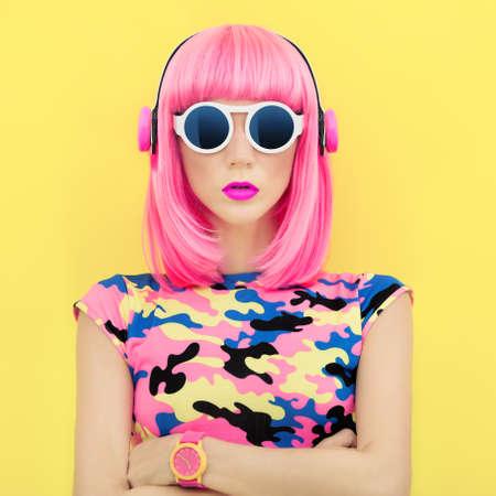punk hair: musique de fille de mode