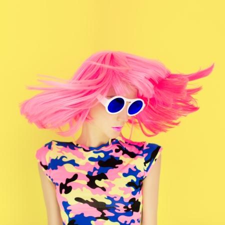 bright fashion girl glamor style photo