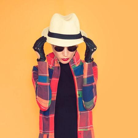 adult 80s: Stylish portrait of glamorous vintage lady