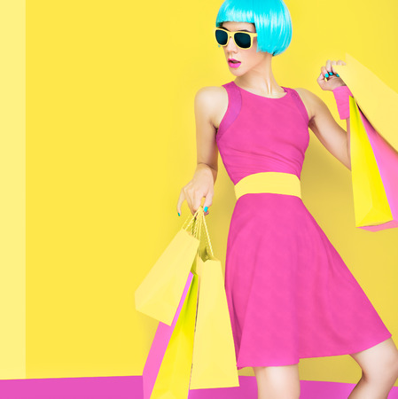 Glamorous shopping lady Standard-Bild
