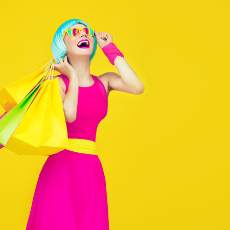 Glamorous shopping lady Stock Photo