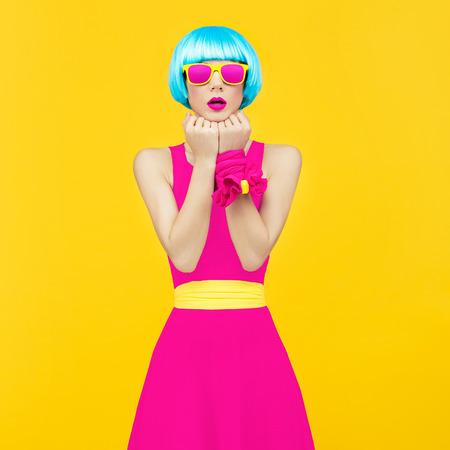 Crazy glamorous lady Stock Photo