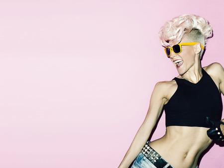glamorous lady rocker hot party style