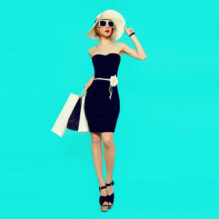 Glamorous lady goes shopping