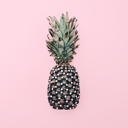 Fashion pearl pineapple. minimal style