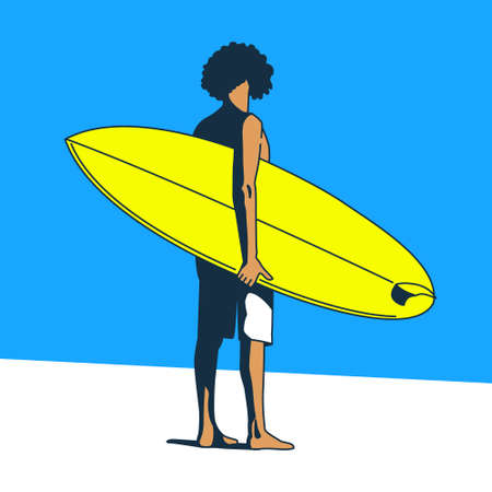 surf shop: Surf Boy. Love Surfing. Freedom. Pop Art Style. Illustration