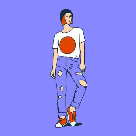 urban style: Girl. Urban Style. Pop Art fashion.