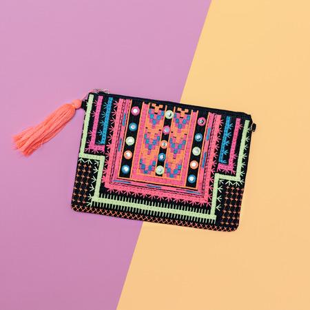 clutch bag: Stylish Lady Clutch. Bright fashion accessory. Stock Photo
