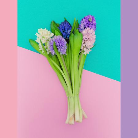 pastel colors: Hermoso ramo. Aroma de la primavera. moda minimalista. Los colores pastel tendencia