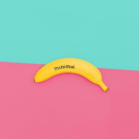 colores pastel: Plátano mínima. estilo de colores pastel