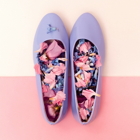 Be romantic. Womens shoes and flowers. Harmony mix