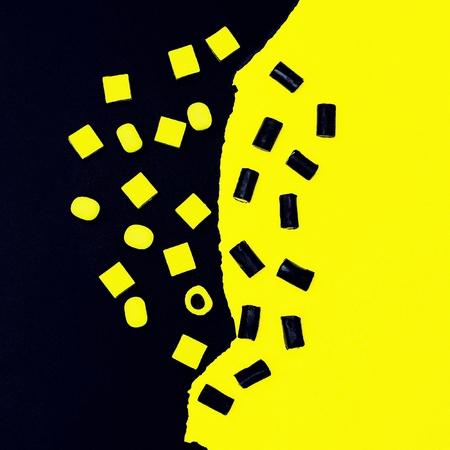 advantaged: Black and yellow design. Fashion Sweets. minimal