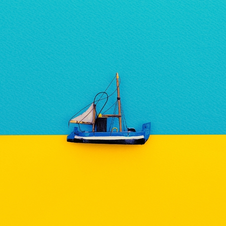 Little Ship. Minimal style design.