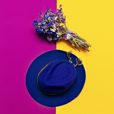 varnished: Stylish accessory autumn. Felt Hat Lady. Purple trending