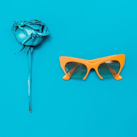 Sunglasses. Stylish minimalism art.