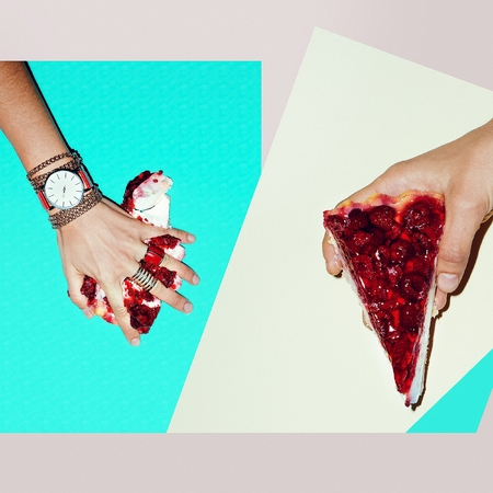 Fashion Collage. Focus on red. Lady Jewelry. Sweet Summer Accessories.