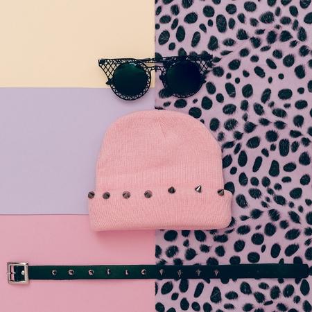 Animal Print. Stylish urban accessories. Eyeglasses cap necklace. Style swag
