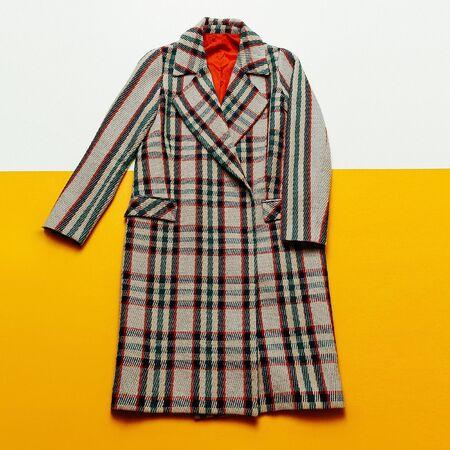 varnished: checkered Coat Fashion Urban Vintage style