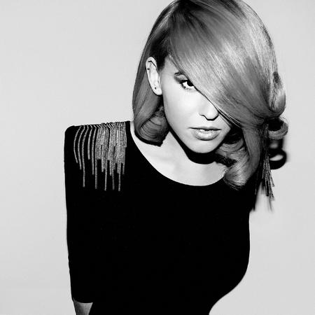 hair model: Sensual Beauty Model. Retro. Style Hair. Stock Photo