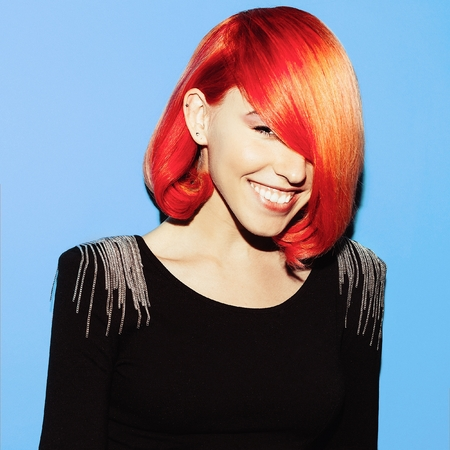 stylish hair: Beauty Girl with stylish hairdo. Hair Color Trend. Red hair