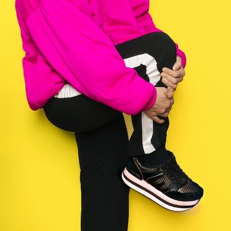 Urban style platform shoes Stock Photo