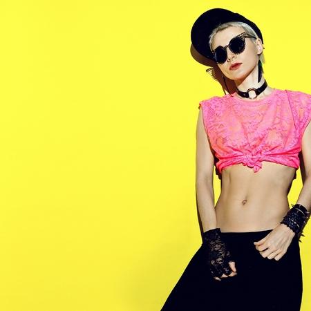 gogo girl: Mode Blondine Stylische Partyzeit Lizenzfreie Bilder