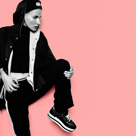 Tomboy Girl Model Style Urban Outfit Dance Hip Hop Clothing Fashion