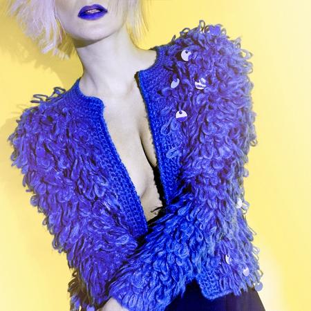 Disco Lady in style jacket fashion portrait