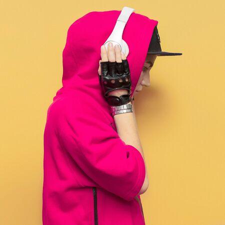 Fashion Hip Hop Girl. Urban style DJ Lady