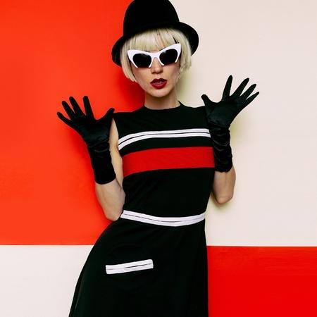 Lady Retro Style Cabaret vintage clothing. Minimal Fashion. Art Design