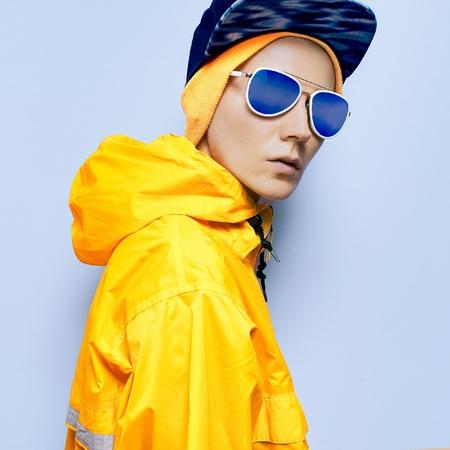 Fashion accessories. Hat, cap, glasses. Snowboard clothing fashion