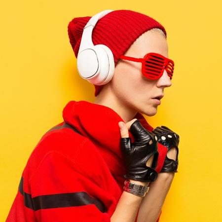 Tomboy Music DJ Party Fashion Urban Style Stock Photo