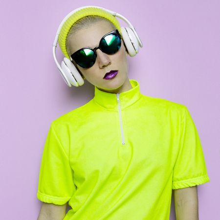 Lady DJ Mix Techno Dubstep Party Style