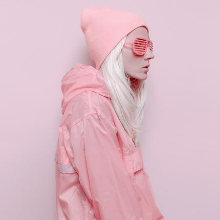 ピンク オレンジ ミックス バニラ女性ファッション盗品