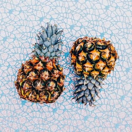 Two mini pineapple. Fashion Art