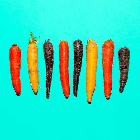 Set carrots. Minimal art design