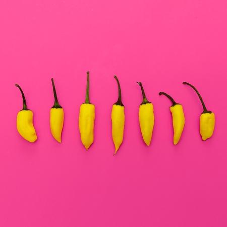 Yellow pepper. Minimal art design Banque d'images