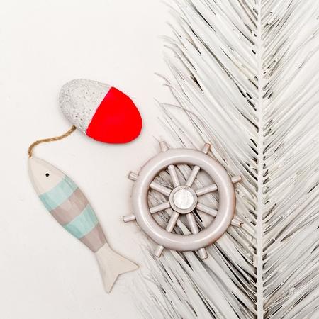 Sea vibration. Ocean set. Minimal art design Stock Photo