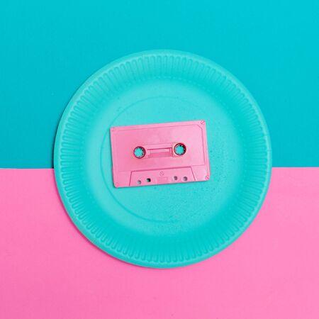 Audiocassette Vintage Minimal Design Stock Photo