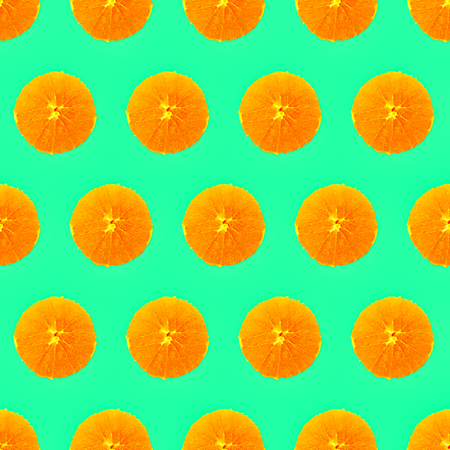 Seamless minimal  pattern.  Fresh Orange background. Use for t-shirt, greeting cards, wrapping paper, posters, fabric print.  Flat lay modern art
