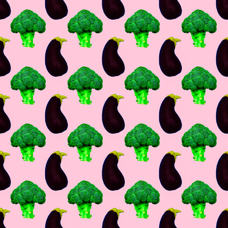Seamless photo pattern Vegetable background. Use for greeting cards, wrapping paper, posters, fabric print. Minimal vegan concep