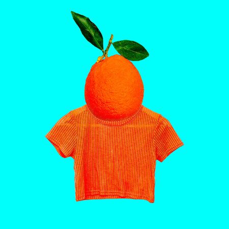 Contemporary art collage. Orange mood