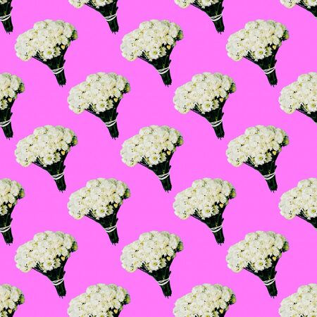 Seamless pattern. Bouquet. Use for t-shirt, greeting cards, wrapping paper, posters, fabric print.