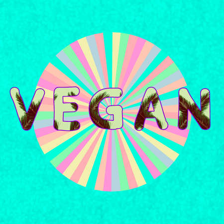 Modern logo design collage art. Design for vegans.