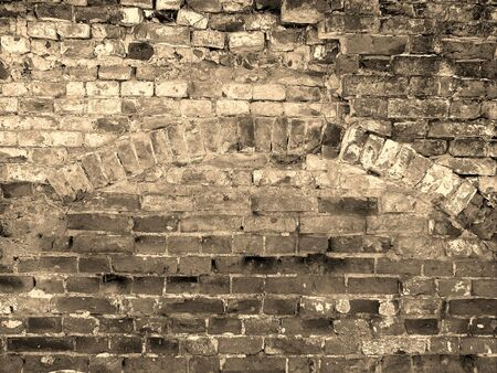 ancient brick arch wall background texture  photo