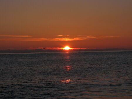 sunset over the black sea photo