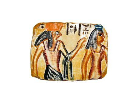turistic: egyptian souvenir bas-relief with pharaoh image Stock Photo
