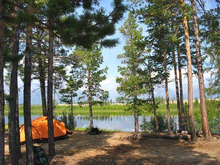 campfire: siberian lake camp fire tent